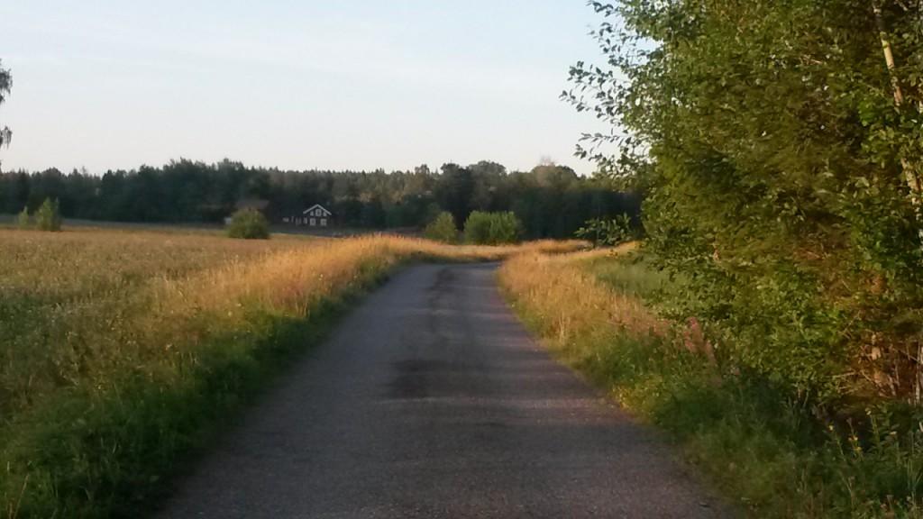Löpning på lantliga vägar