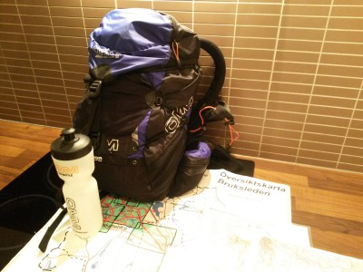 Löparryggan packad för äventyr på Bruksleden.