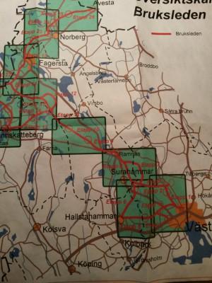 Översiktskarta över Bruksleden.