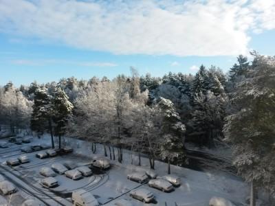 Vintern på besök i Västerås.
