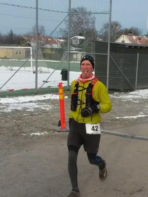 Niklas kom in klockan 7:17 på en finfin 9:e plats!