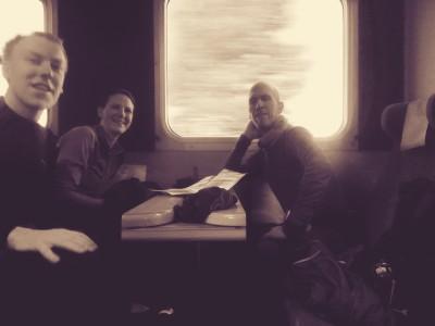 Vi tog det lite lugnt på tåget.