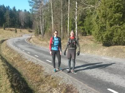 Asfaltsväg innan Harpsund.