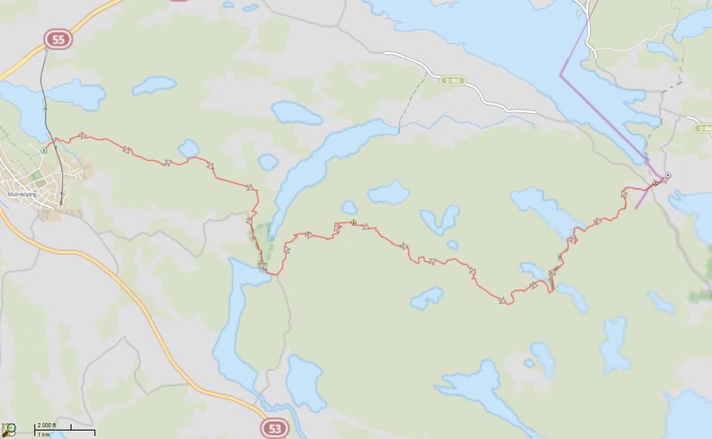 Malmköping - Ånhammar  27 km 2015-04-04
