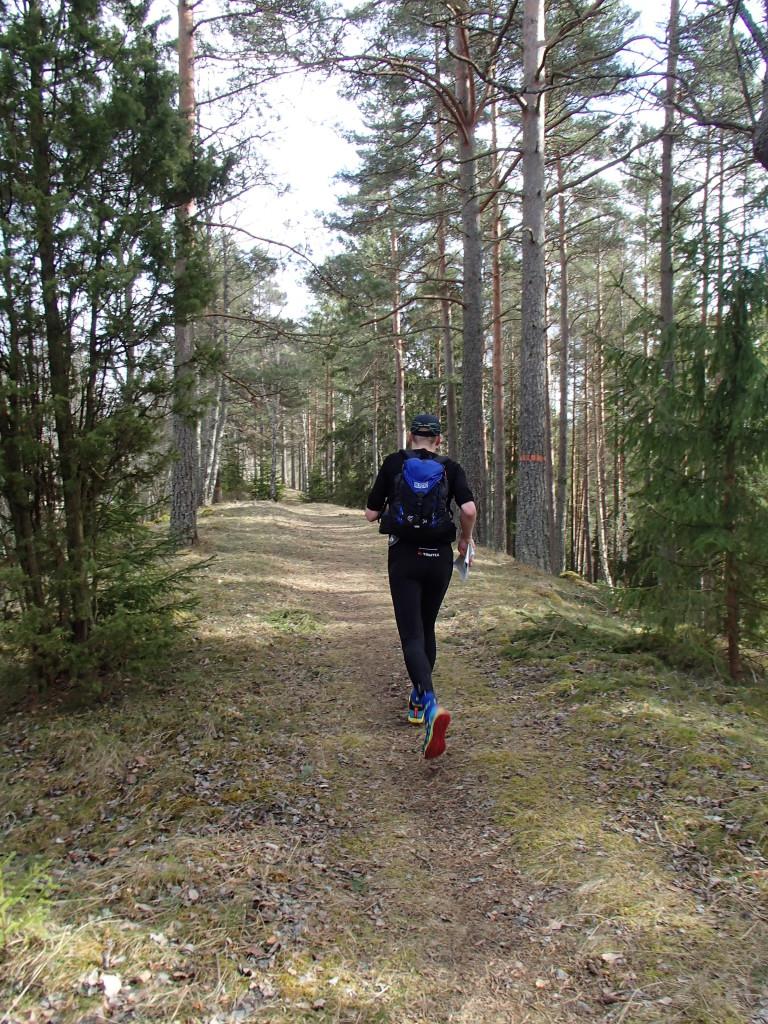 Löpning på åsen innan Malmköping.