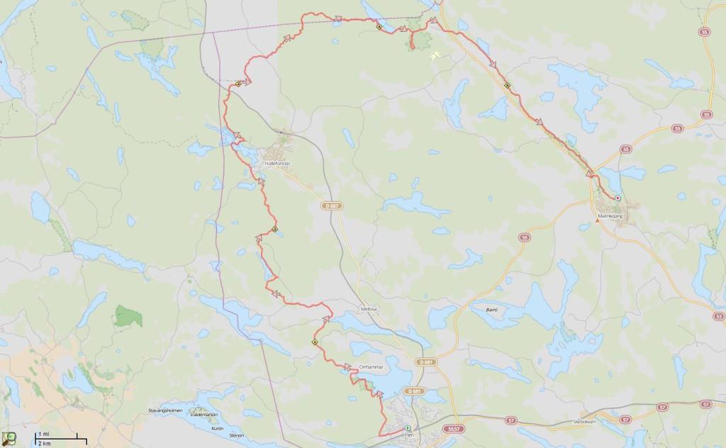 Sörmlansleden Flen - Malmköping 2015-04-03