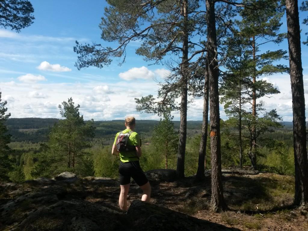 Utsikt från Matkullens 210 meter höga topp.