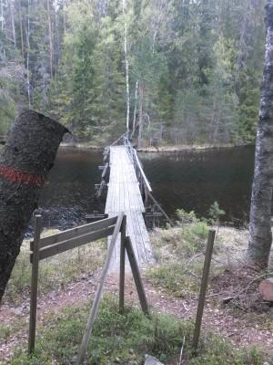 Bron över Örtjärns NV ände.