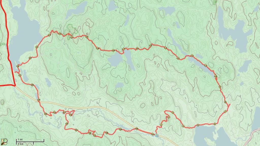 Distans: 41.35km Aktiv tid: 4:41 Stigning:  960 höjdmeter