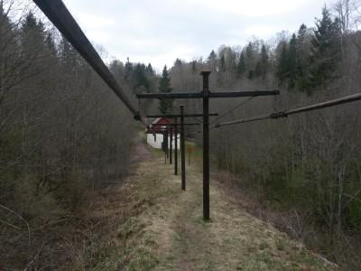 Konstgången i Sördalen (en typ av kraftöverföring)  användes till pumparna i Bispbergs gruva fler km bort,