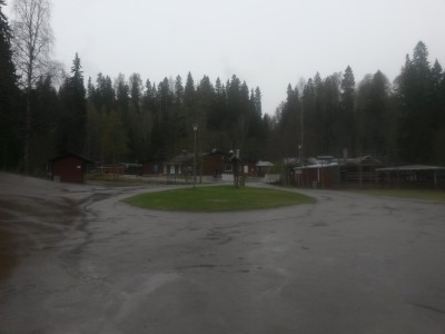 Folktom park. Vädret lockade inte speciellt.