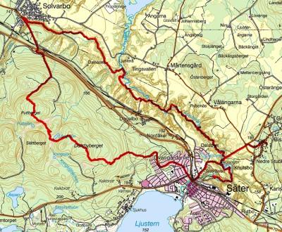Kartan över turen.
