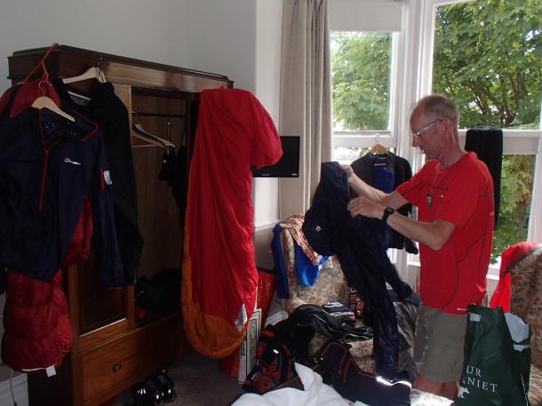 Torkning av fuktiga kläder i vårt rum