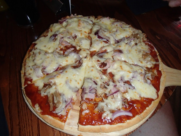 Den godaste pizzan jag ätit!